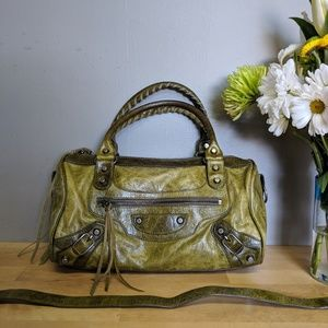 Genuine BALENCIAGA - Mini TWIGGY Handbag Olive